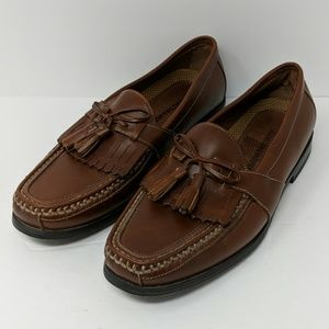 Johnston & Murphy Brown Leather Loafers Size 8.5